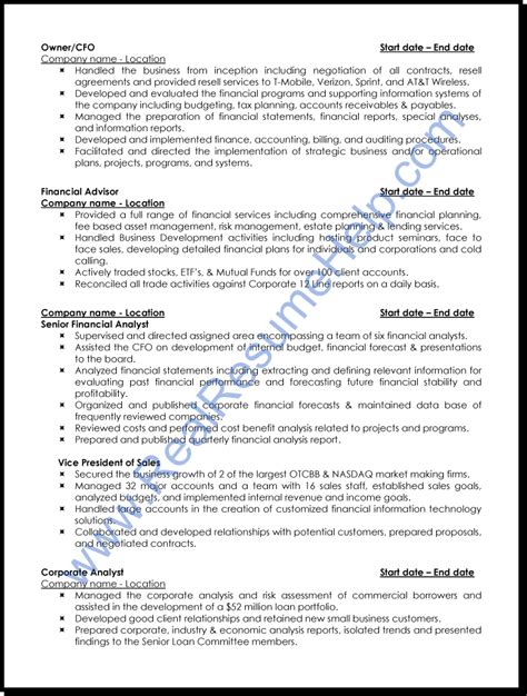 sle resume of a financial analyst quality assurance analyst resume project management
