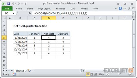 format date as quarter in excel excel formula get fiscal quarter from date exceljet