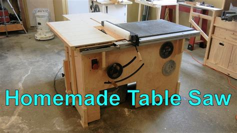 how to make a table saw bench my homemade table saw youtube