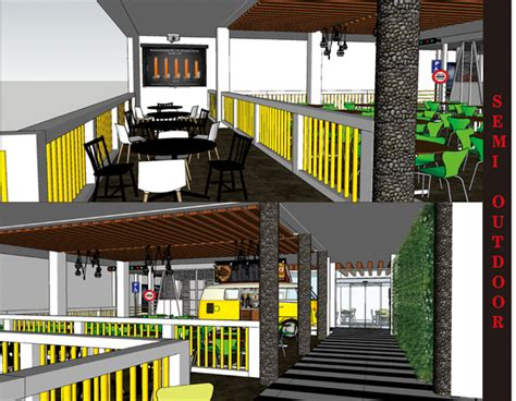 desain cafe container sribu restaurant interior booth design service