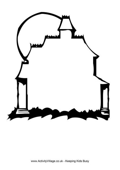 haunted house template haunted house clipart outline clipartxtras