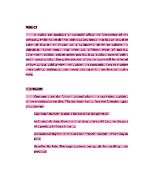 Mba Product Management Notes by Marketing Management Notes Mba