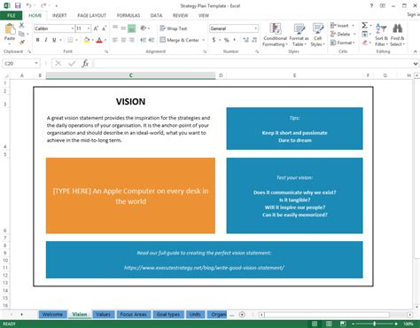 strategic plan template word bing images