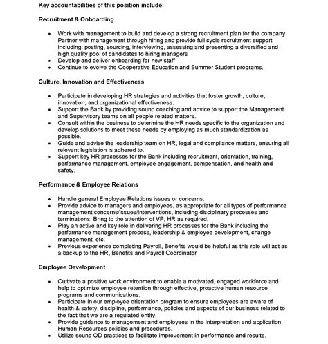 Security Job Description Resume by Hr Business Partner Homequity Bank Homequity Bank