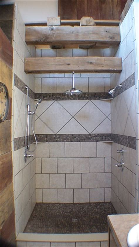 rustic shower projects bender construction company