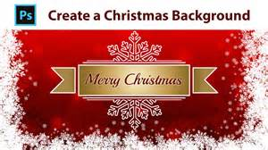 photoshop tutorial design a christmas background youtube