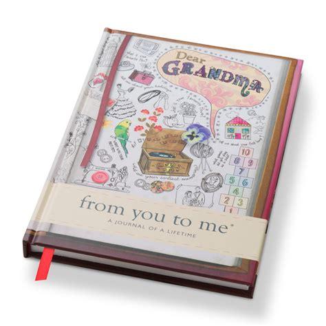 design journal gift dear grandma from you to me gift journal for grandma