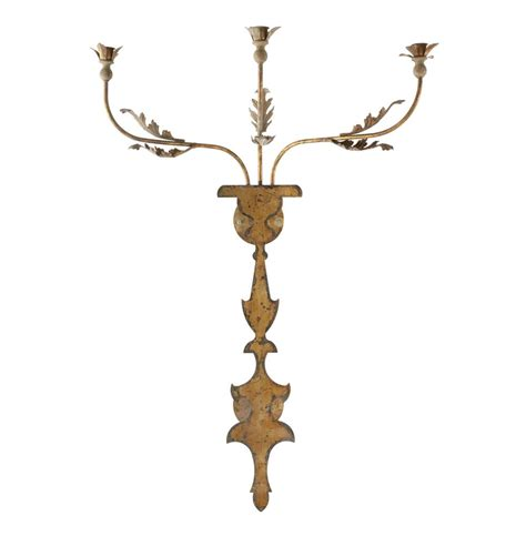 Iron Candle Wall Sconce Veurne Manor 42 Inch Rustic Iron Candle Wall Sconce Kathy Kuo Home