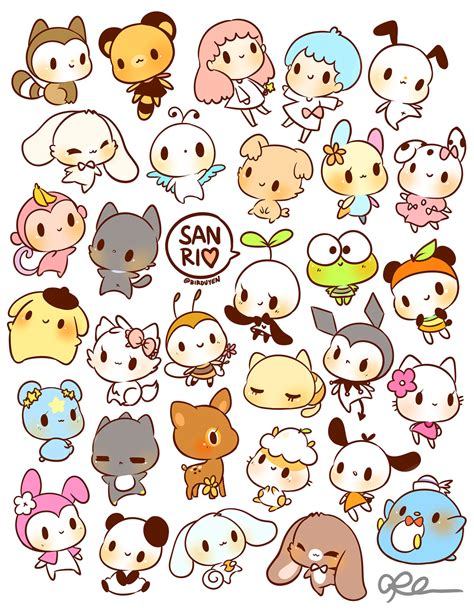 printable stickers of animals by birduyen sanrio stickers available in my shop