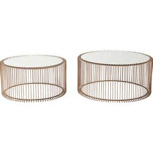 table basse contemporaine cuivre wire kare design