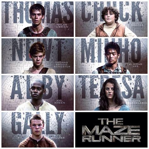 maze runner film newt the maze runner character poster thomas chuck newt