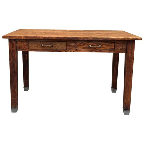 1930s industrial oak library desk for sale at 1stdibs