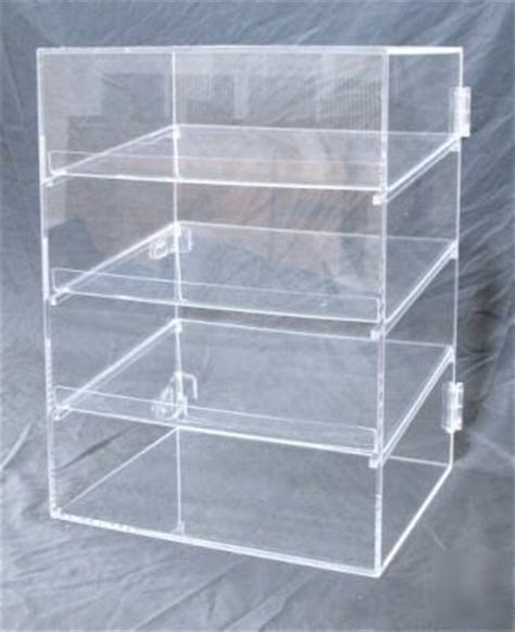 Plastic Display Shelf by New Bakery Pastry Acrylic Display 3 Shelf Plus