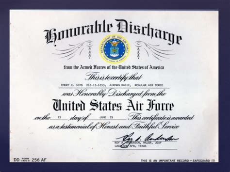 honorable discharge certificate template honorable discharge and form dd 214