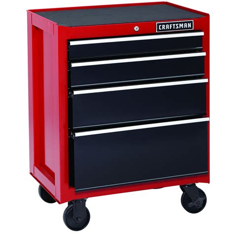 "Craftsman 26"" 4 Drawer Heavy Duty Rolling Cabinet   Red"