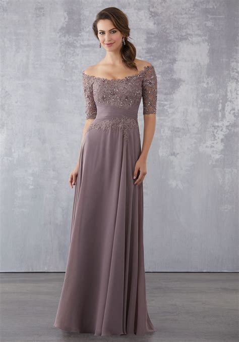 chiffon social occasion dress  beaded lace bodice