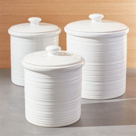 farmhouse canisters crate  barrel