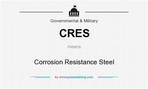 corrosion resistance definition cres corrosion resistance steel in governmental by acronymsandslang