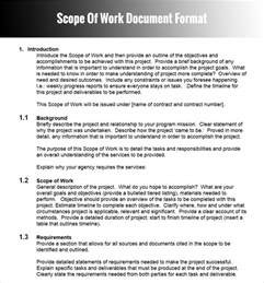 construction project scope of work template project scope of work template www imgkid the