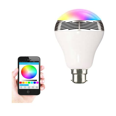 Wireless Bluetooth Speaker Color Led Light Bulb Deal Hopperz Led Bluetooth Light Bulb