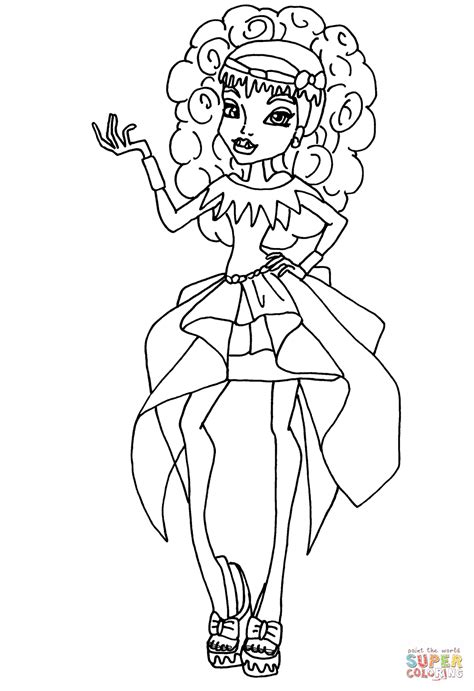 monster high printable coloring pages abbey 13 wishes abbey bominable coloring page free printable