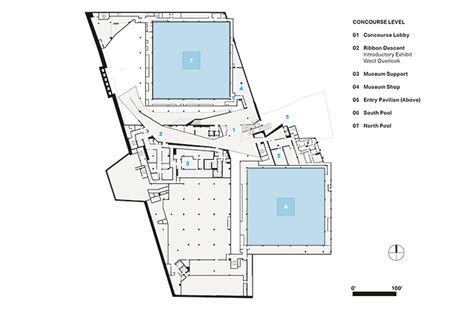 How To Read Dimensions On A Floor Plan 9 11 memorial museum s design honors the history and