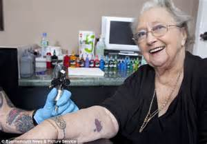Winifred turner becomes britain s oldest woman to get a tattoo daily