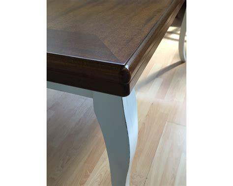 tavolo 100x100 allungabile tavolo legno bicolore anticato provenzale 100x100
