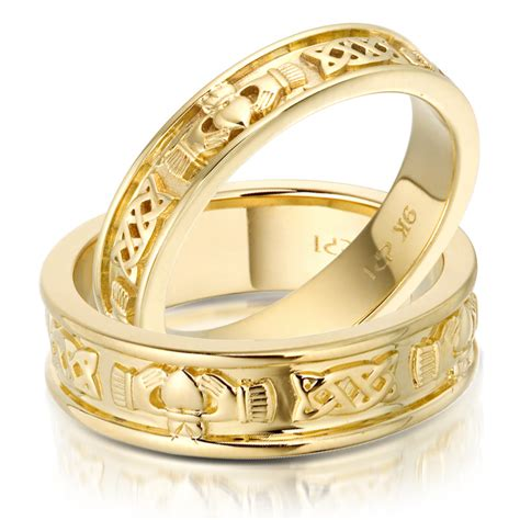 Wedding Bands Wiki by File Gold Claddagh Wedding Bands Jpg Wikimedia Commons