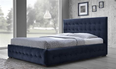 blue platform bed margaret navy blue velvet tufted queen platform bed groupon