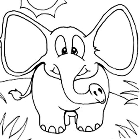 elephant ear coloring page elephant with wide ears coloring page