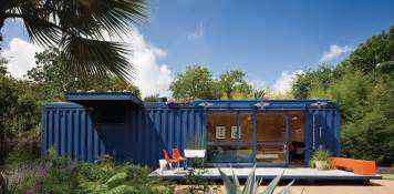 sea container house design single story painted blue sliding kitchens cottage kitchen interior and inspiration