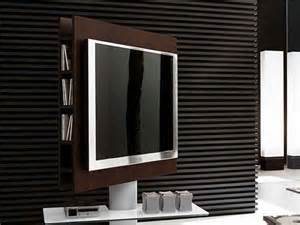 Rotating television stand gt rotating television stand with wooden wall
