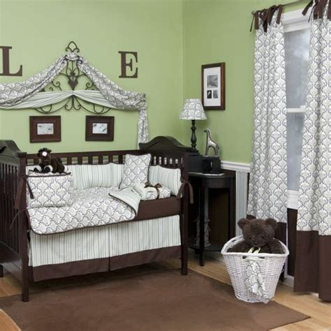 Brown And Green Crib Bedding Images Of Damask Crib Bedding Baby In Green And Brown Wallpaper Picture To Pin On
