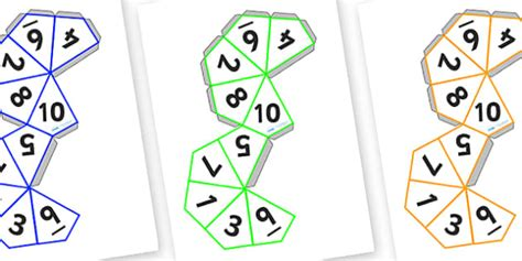 printable spinner with numbers 1 10 dice net 1 10 dice 1 10 templates how to make a dice