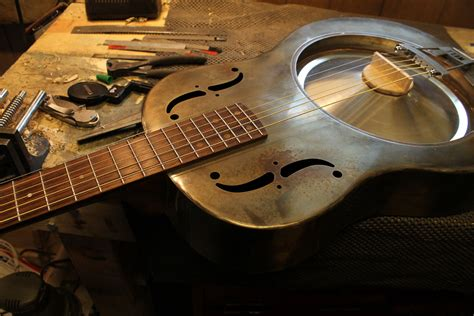 Handmade Resonator Guitars - handmade steel resonator guitar mule resophonic