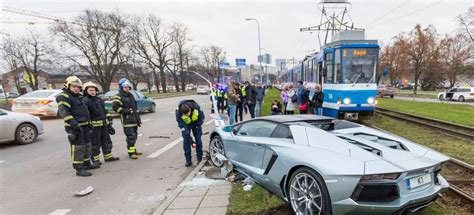 Lamborghini Aventador Crashes Lamborghini Aventador Roadster Crashes In Estonia Gtspirit