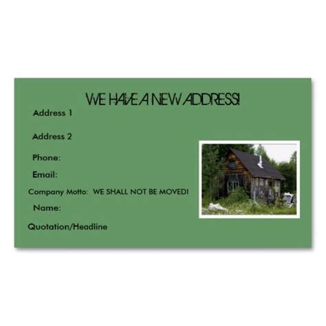 address cards templates quot change of address quot business cards moving