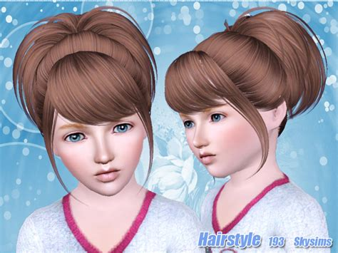 small ponytail hairstyle 228 by skysims sims 3 hairs small and high ponytail hairstyle 193 by skysims sims 3