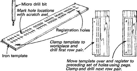 cribbage board drilling templates boring cribbage board holes revisited finewoodworking