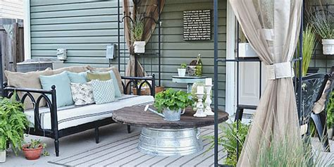 patio decoration liz marie blog patio before and after patio decorating ideas