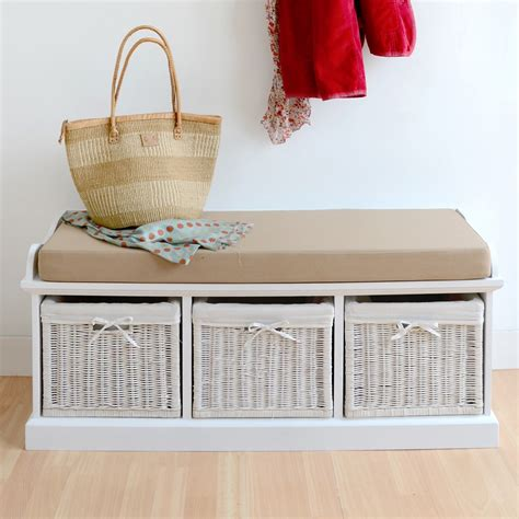 tetbury hall bench tetbury white storage bench with cushion assembled large
