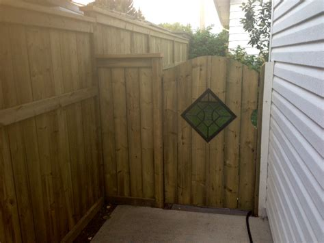 wood fence calgary cottams fencing contracting