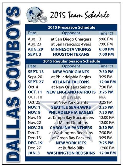 Calendario De Dallas 25 Best Ideas About Dallas Cowboys Football Schedule On