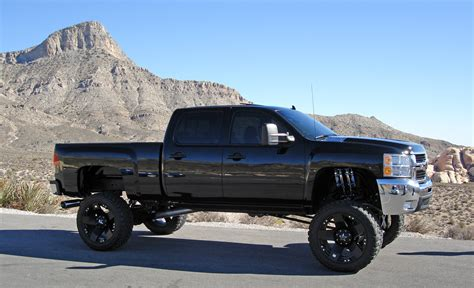 chevy lifted chevy truck lifted all black lifted4x4