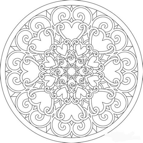 mandala coloring pages spring lovely spring mandala would also be great for valentine s