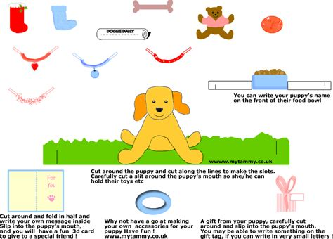 How To Make A Puppy Out Of Paper - puppy paper doll