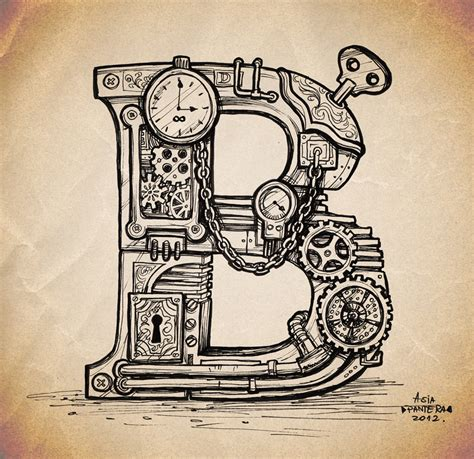 steampunk typography typostrate