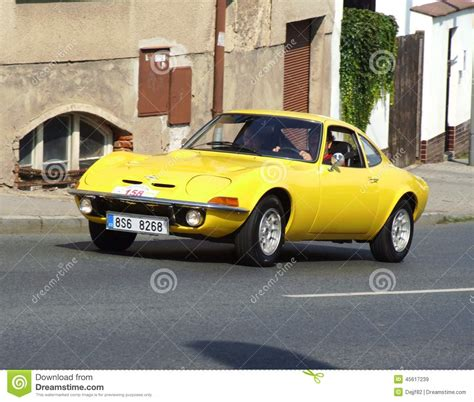 vintage opel car vintage german sport car opel gt editorial stock image