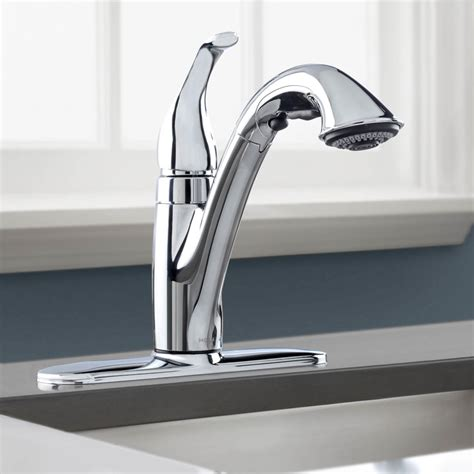 pull faucets kitchen peerless pull kitchen faucet pull out or pull